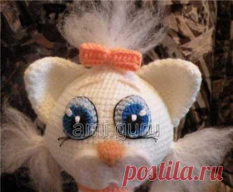 Белая элегантная кошка. Подробный мастер-класс — Вязаные игрушки. Амигуруми всех стран, соединяйтесь