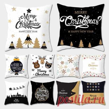Рождественские наволочки, рождественские наволочки, рождественские украшения для дома, рождественские декорации, олень и Снежинка с новым годом 2020 2021|Кулоны и подвески| | АлиЭкспресс
