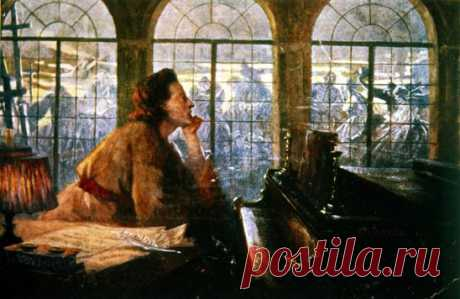 Как много грусти в музыке Шопена... В ней слышен вздох тоскуюшей Души, Она для нас волнующа.... нетленна, И вальсами неистово кружит.