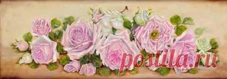 Схема вышивки «dlhé ruže» - Вышивка крестом
