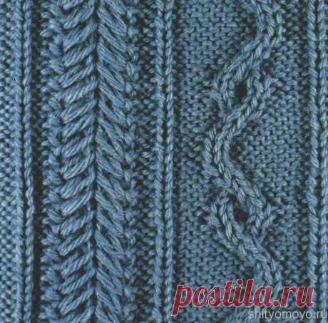 Аранское вязание: узор спицами №31