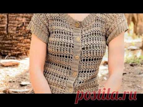 Crochet pattern for jacket - Узор крючком для жакета