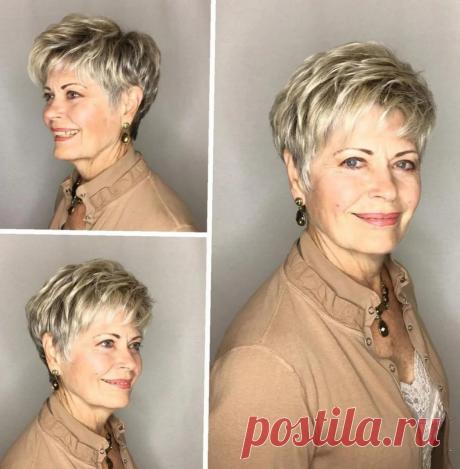 Удачные прически для женщин 60+. Вымыла, высушила и вы красотка | СильнаЯ и СтильнаЯ | Яндекс Дзен