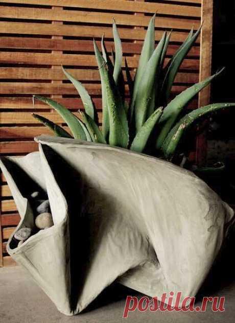 Садовые идеи из цемента