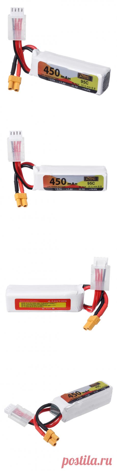 zop power 11.1v 450mah 95c 3s lipo battery xt30 plug for 90-150 sizes multirotor fpv drone Sale - Banggood.com