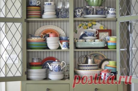 Как красиво расставить посуду в серванте | календарь уютного дома | Яндекс Дзен
