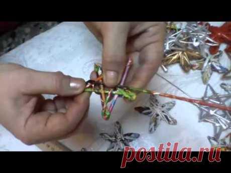 Ёлочные игрушки из трубочек МК-ВИДЕО