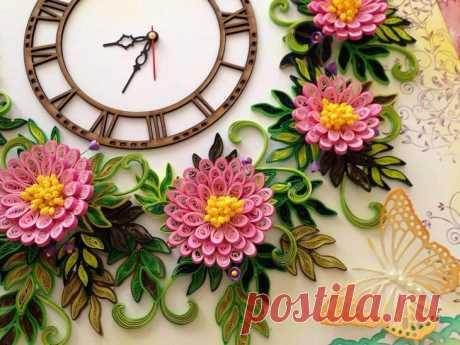 Kvilling: como se hacen las flores, la tarjeta y el cuadro en la técnica bumagokrucheniya (¡+ la foto de las obras maestras preparadas!)