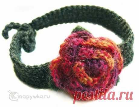 Колье с вязаной брошью - купить | Украшения ручной работы | HANDMADE интернет-магазин