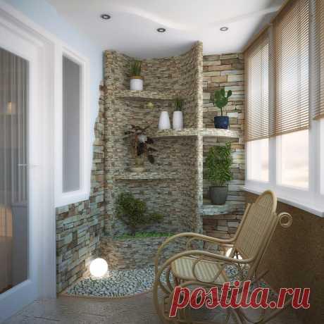 Декоративный камень в интерьере - 141 фото прихожей, на кухне, с обоями