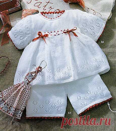 Вязание для детей до года. Коллекция «Белое очарование» | razpetelka.ru