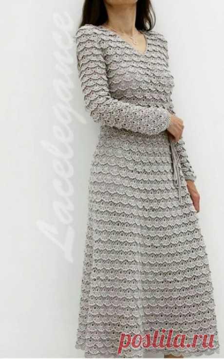 Платье из ленточного кружева из категории Интересные идеи – Вязаные идеи, идеи для вязания
