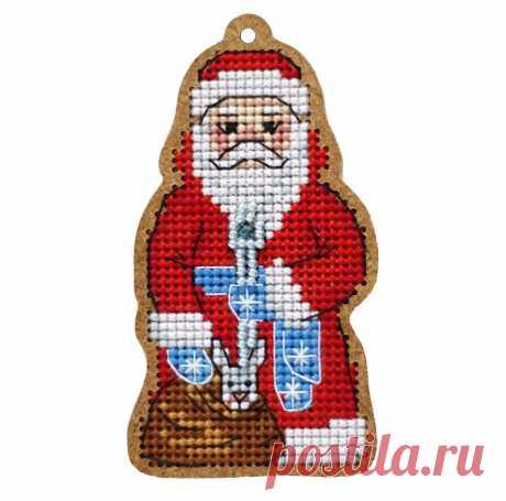 """Набор для вышивания «Дивная вишня» ВВ-110 «Дед Мороз» купить в интернет-магазине «Мир Вышивки»  ВВ-110 """"Дед Мороз"""""""