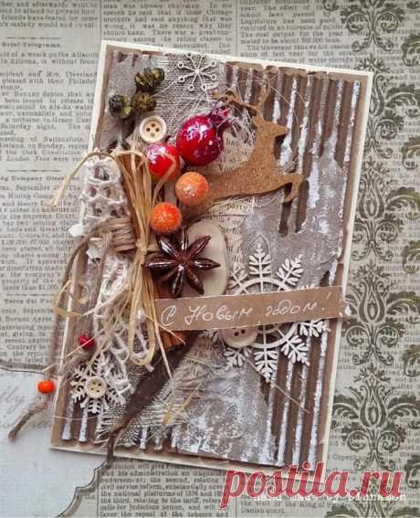 Мастер-класс: как сделать красивую и простую новогоднюю открытку своими руками?