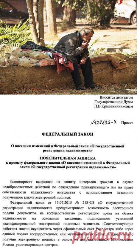 Стать бомжем в России может каждый по 218 Федеральному закону. | Земельный юрист по недвижимости | Яндекс Дзен