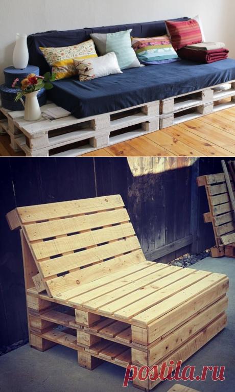 Фантастическая мебель из обычных поддонов: создание разных моделей кровати и дивана