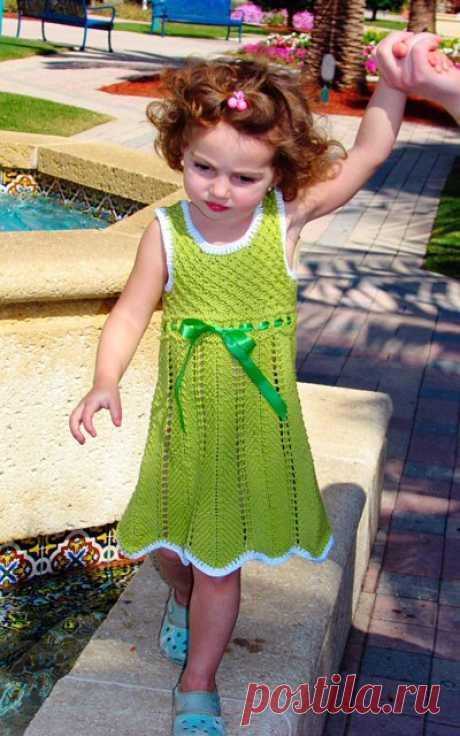 Вязание детских платьев спицами со схемами. Детское ажурное платье спицами. | Лаборатория домашнего хозяйства