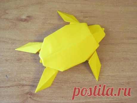 Как сделать ЧЕРЕПАХУ из Бумаги ОРИГАМИ Бумажная ЧЕРЕПАХА Поделка How to make a Paper Sea Turtle ORIG