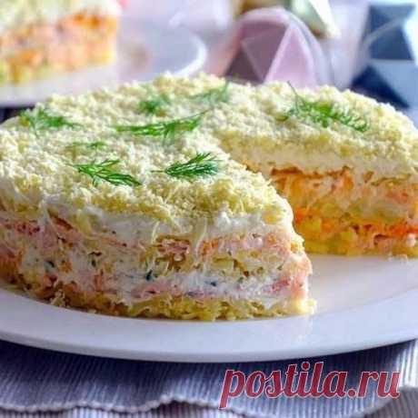 Праздничный салат мимоза с горбушей — Sloosh – кулинарные рецепты
