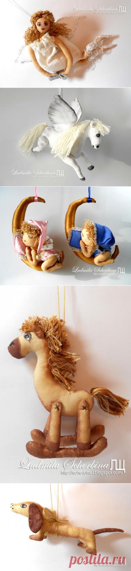 Текстильные куклы и другие рукоделки Людмилы Щербины: выкройки