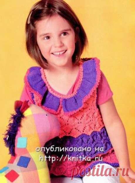Страница 3 рубрики Вязаные платья для девочек спицами