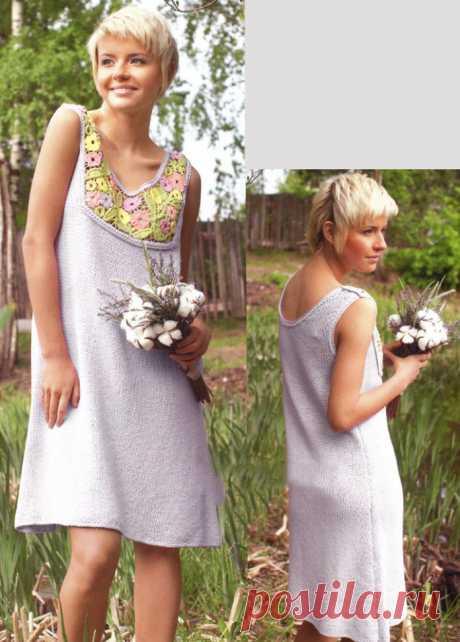 Серое платье в стиле фриформ - Портал рукоделия и моды