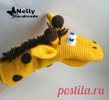 Nelly Handmade: Игрушка-варежка. Жираф. Описание
