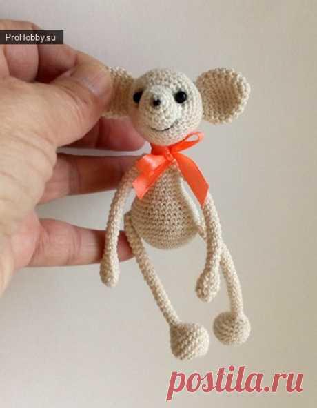 Мышонок амигуруми крючком / Вязание игрушек / ProHobby.su | Вязание игрушек спицами и крючком для начинающих, мастер классы, схемы вязания