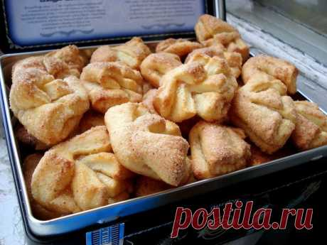Печенье гусиные лапки рецепт из творога в домашних условиях