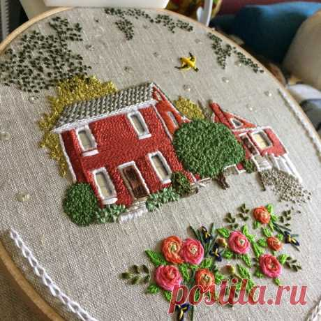 The embroidered Theresa Lawson lodges Fashionable clothes and interior design by the hands