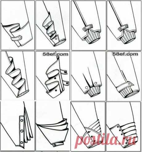 Варианты оформления низа рукава — Сделай сам, идеи для творчества - DIY Ideas