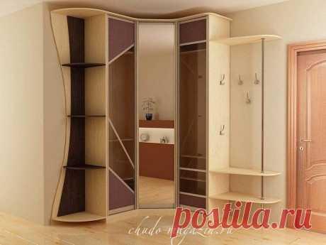 Шкаф угловой для одежды с полками под заказ: фото, материала, замер, заказ, дизайн