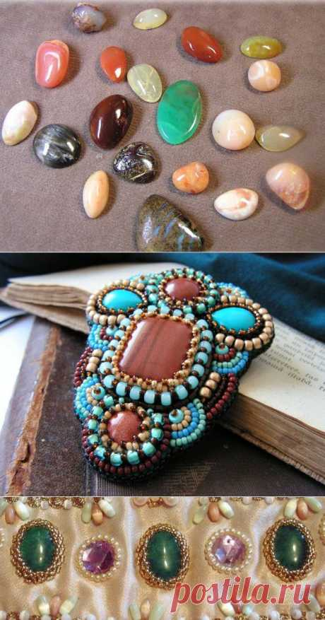 Как прикрепить камни к бисерной вышивке.   МНЕ БЫЛО ИНТЕРЕСНО КАК ЖЕ ПРИКРЕПИТЬ КАМНИ БЕЗ ДЫРОЧЕК К ИЗДЕЛИЮ ИЗ ТКАНИ С ПОМОЩЬЮ БИСЕРА...