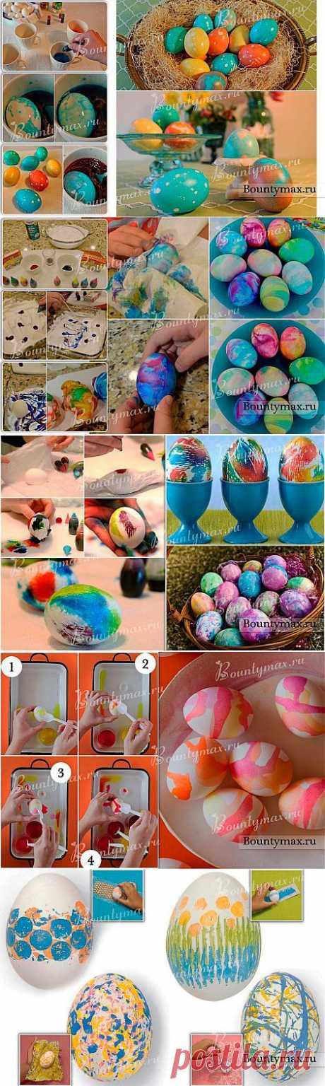 Как красиво и необычно покрасить яйца на пасху