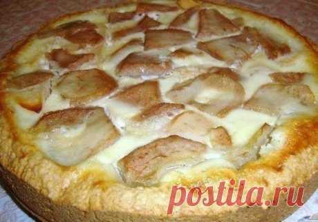 Пирог яблоки на снегу с очень нежной начинкой, просто тает во рту