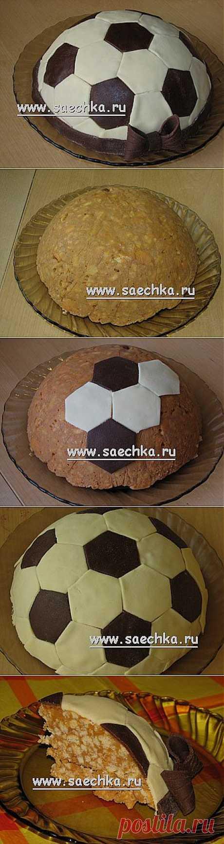 """""""Футбольный мяч&quot cake;   recipes on Saechka.Ru"""