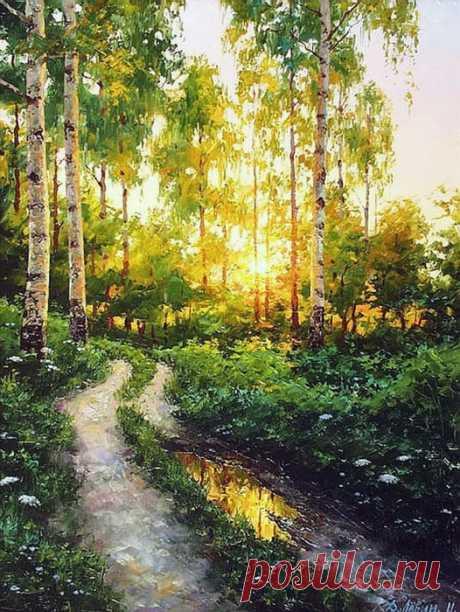 «Снится мне деревня» --  милейшие картины мастера русского пейзажа Дмитрия Лёвина Дмитрий Лёвин, признанный мастер русского пейзажа, родился в 1955 году в Моршанске. Окончил Пензенское художественное училище. Особая привязанность этого художника и источник вдохновения – родная прир…