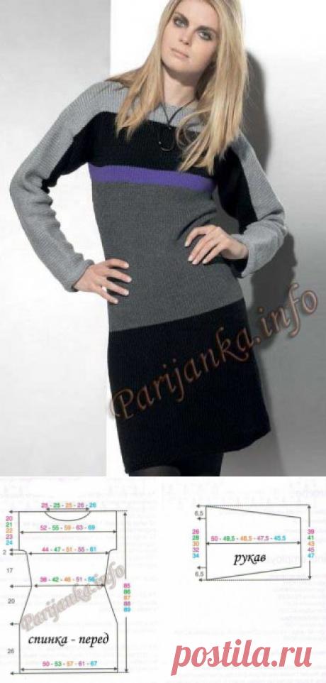 Платье (ж) 33*79 Phildar
