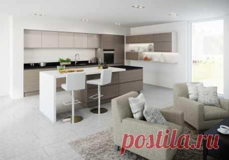 Кухня студия - 150 фото дизайна современной кухни | Лучшие идеи оформления интерьера кухни студии