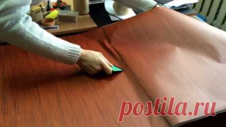 How to glue a self-adhesive film on furniture
