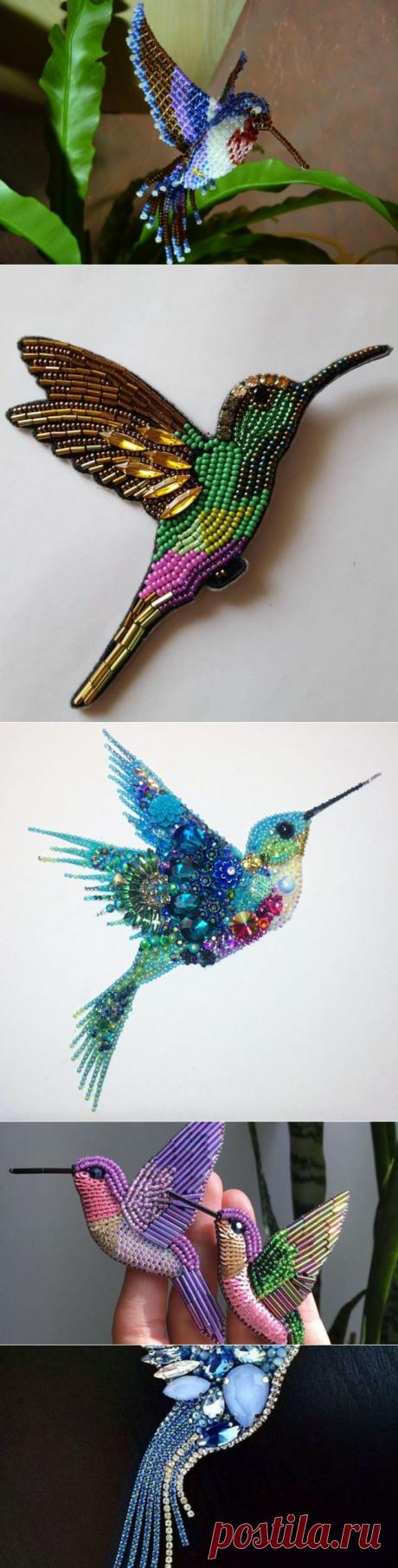 Колибри из бисера: схема плетения, примеры и фото