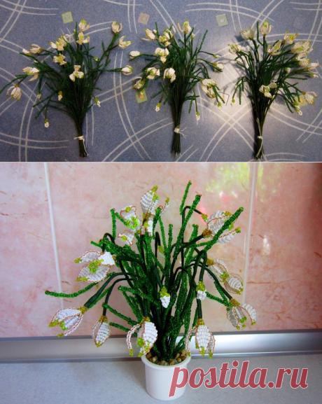 Оригинальные цветы из бисера: мастер-класс — Сделай сам, идеи для творчества - DIY Ideas