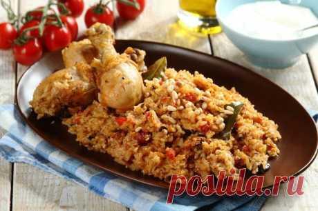 Рис с овощами и курицей в духовке – пошаговый рецепт с фото.