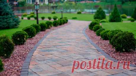 Садовые дорожки на даче своими руками: недорого, из бетона, досок, камней