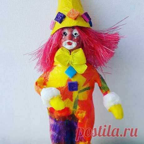 Маленький клоун рост 15 см.