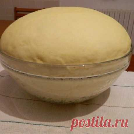 Excellent dough for pies, pies and pizza