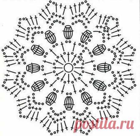 Подборка схем круглых мотивов крючком (УЗОРЫ КРЮЧКОМ) | Журнал Вдохновение Рукодельницы