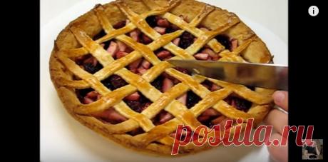 Как приготовить песочный пирог с ежевикой и яблоками - YouTube