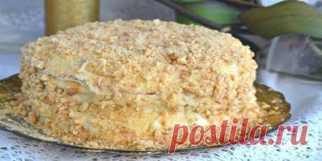 Торт готовим без духовки! Ингредиенты: Для теста:  Мука — 470 грамм; Яйца — 1 штуки; Сгущенное молоко — 1 банка; Сода — 1 чайная ложка. Для крема: