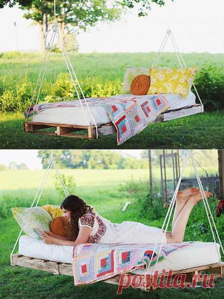 Делаем подвесную кровать в саду (англ.язык)